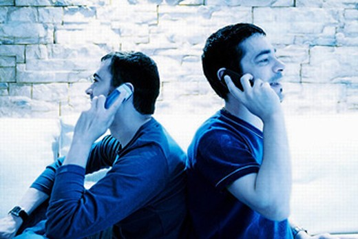 Stock Photo: 1566-0232169 Two men on the phone