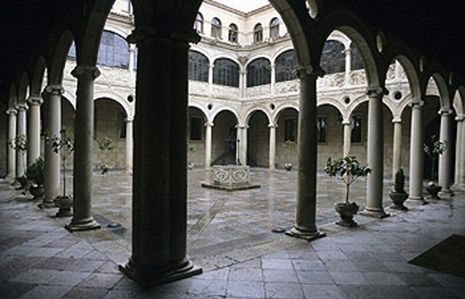 Courtyard. Palacio de los Guzmanes. León. Spain : Stock Photo