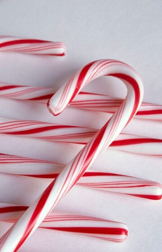 Christmas candy canes. Holiday decor : Stock Photo