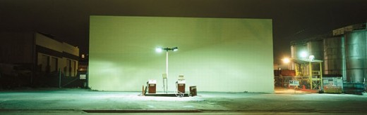 Gas station at night. California. USA. : Stock Photo