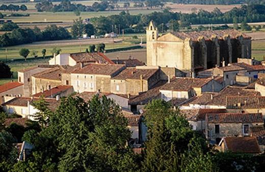 Stock Photo: 1566-0234329 Villeneuve la Comtal. Seuil de Naurouze region. Canal du Midi. Languedoc Roussillon. France.