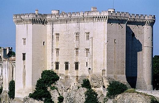 Le Château (XIVth century), Dukes of Anjou old property. Tarascon. Bouches du Rhône. Côte d´Azur. Provence. France. : Stock Photo