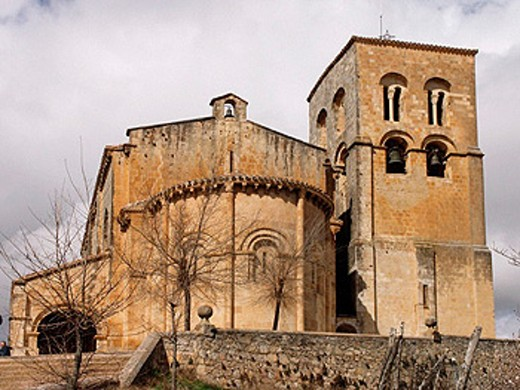 Romanesque church of the Saviour dating from 11th century, Sepúlveda. Segovia province, Castilla-León, Spain : Stock Photo