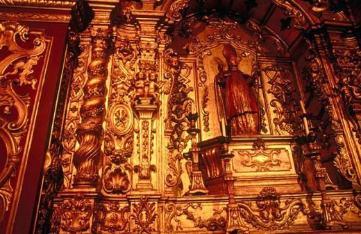 Stock Photo: 1566-0234528 São Bento monastery, Rio de Janeiro. Brazil