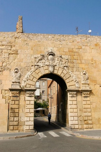 Portal de Sant Antoni ( XVIII century). Tarragona. Spain. : Stock Photo