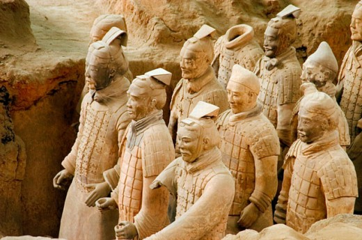 Terracotta army of the Emperor Qin, Xian, Shaanxi, China. : Stock Photo