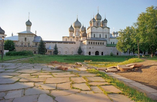 View in Rostov Kremlin, Russia. : Stock Photo