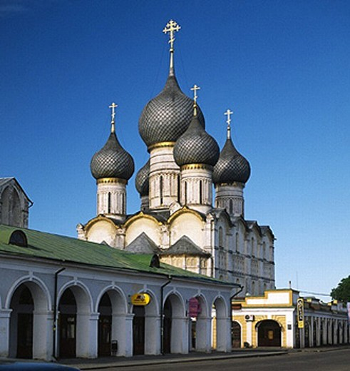 Assumption cathedral, XVI century, Rostov Kremlin, Yaroslavl region, Russia : Stock Photo