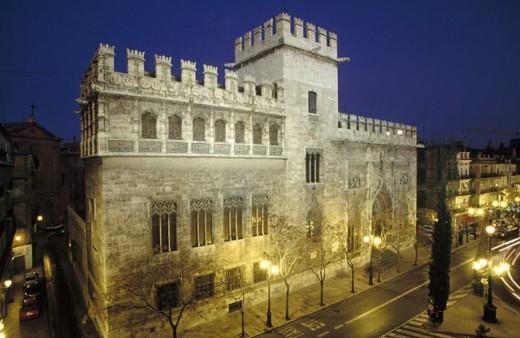 Stock Photo: 1566-0236676 Lonja de la Seda (Silk Exchange). Late gothic, 15th Century. Valencia, Spain