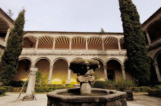 Stock Photo: 1566-0237158 Cloister, Yuste monastery. Cáceres province, Extremadura, Spain