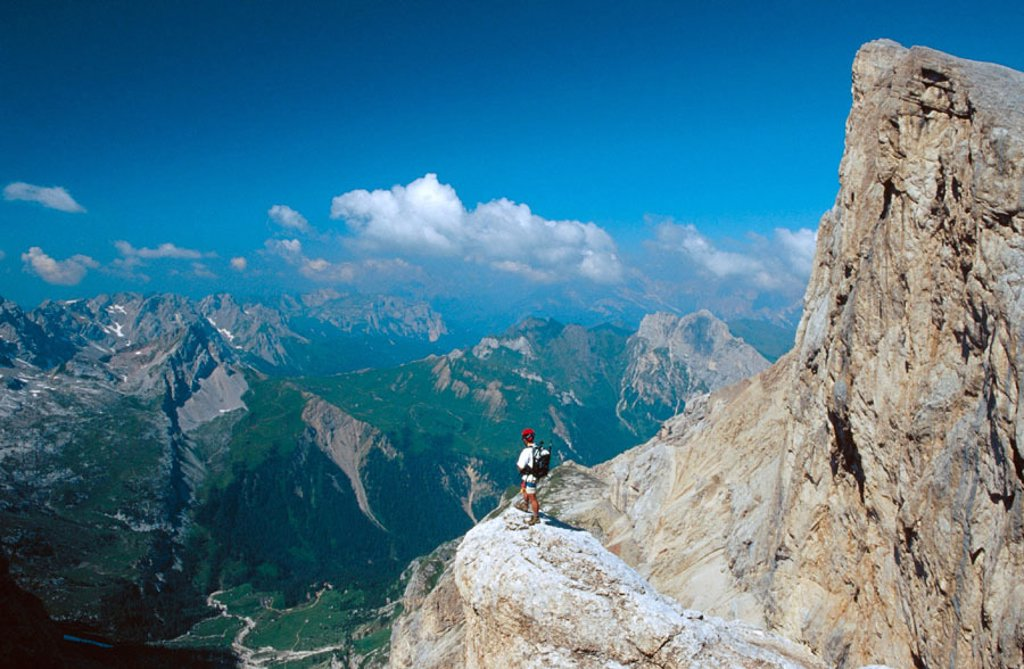 Stock Photo: 1566-0237391 Via Ferrata to La Marmolada. Dolomites. Italy.