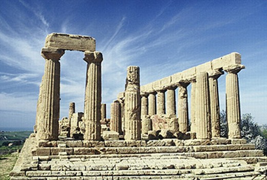 Temple of Juno, Valley of the Temples, Agrigento. Sicily, Italy : Stock Photo