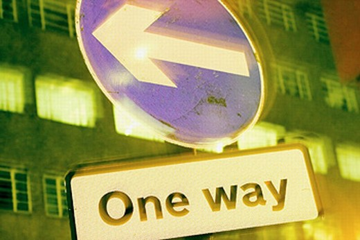 One way sign : Stock Photo