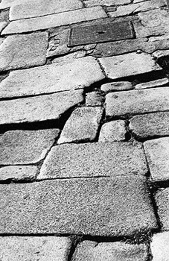 Stone paved street, Porto. Portugal : Stock Photo