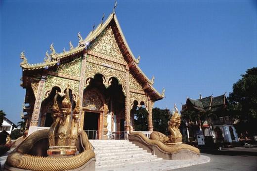 Wat Mahawan. Lamphun. Thailand. : Stock Photo