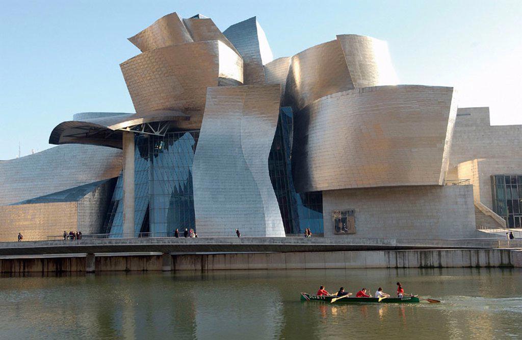 Guggenheim Museum. Bilbao. Bizkaia. Euskadi. Spain. : Stock Photo