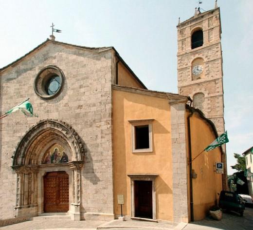 Stock Photo: 1566-0240012 Collegiate church of San Leonardo and Sant Cassiano, San Casciano dei Bagni. Tuscany, Italy
