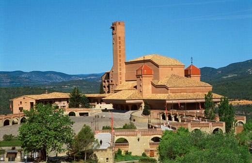 Marian sanctuary. Opus Dei chapel. Barbastro. Huesca. Aragón. Spain. : Stock Photo