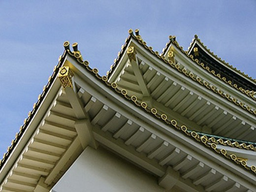 Roof Detail. The Osaka Castle. Osaka. Japan : Stock Photo