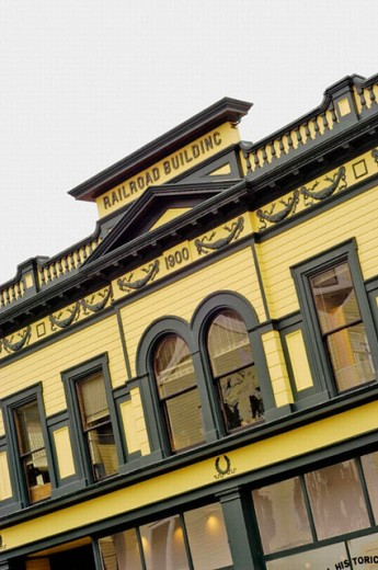 Historic railroad building. Skagway. Alaska. United States : Stock Photo