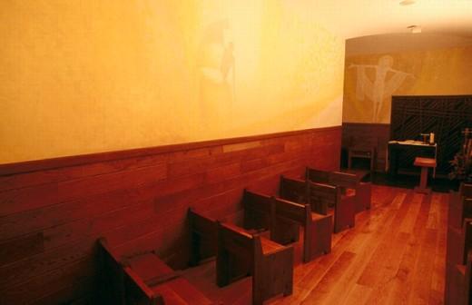 Stock Photo: 1566-0244211 Crypt of Santa María de Arantzazu temple. Guipúzcoa, Euskadi, Spain