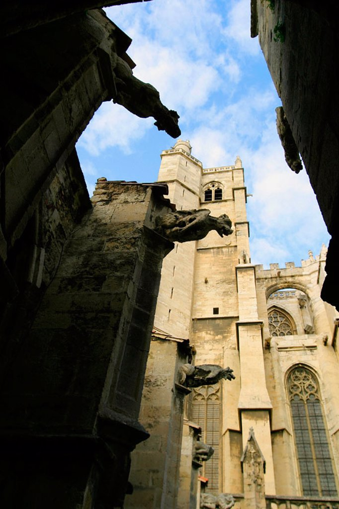 Stock Photo: 1566-0244585 St. Just and St. Pasteur cathedral, Narbonne. Aude, Languedoc-Roussillon. France