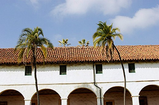 Santa Barbara Mission Santa Barbara California USA : Stock Photo