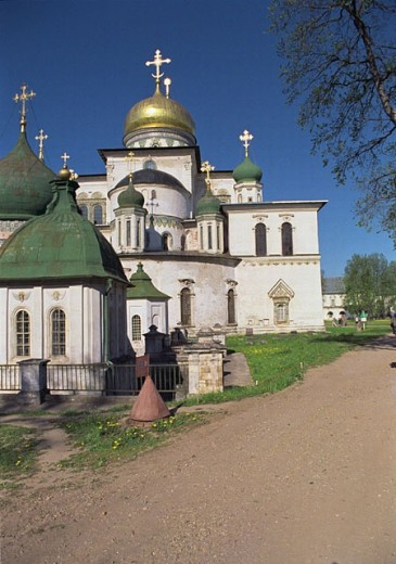 The Resurrection cathedral (1685) in New Jerusalem monastery, Istra, Moscow region, Russia : Stock Photo
