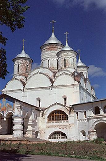 Cathedral of Saviour (1542) in Spaso Prilutskiy monastery, Vologda, Russia : Stock Photo