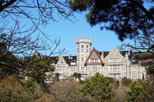 Universidad Internacional Menéndez Pelayo, Palacio de la Magdalena. Santander. Cantabria, Spain : Stock Photo