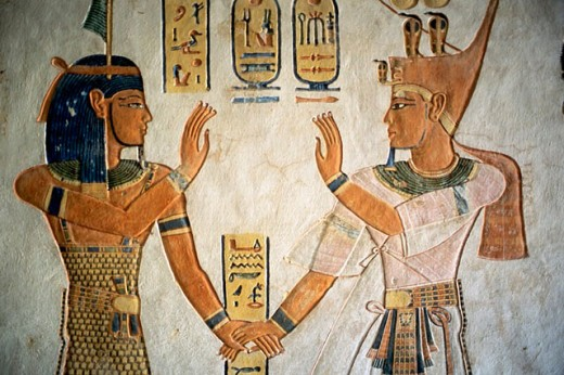 Tomb of Queen Titi. Valley of the Queens. Thebes. Egypt. : Stock Photo