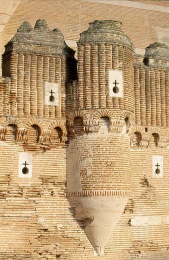 Castle of Coca. Segovia province, Castilla-León, Spain : Stock Photo
