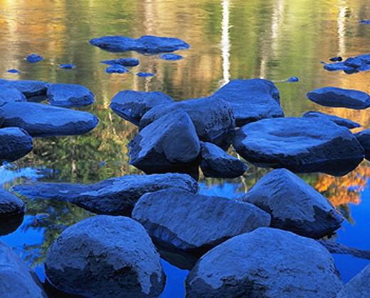 Stock Photo: 1566-030093 Housatonic River at Cornwall. Connecticut. USA