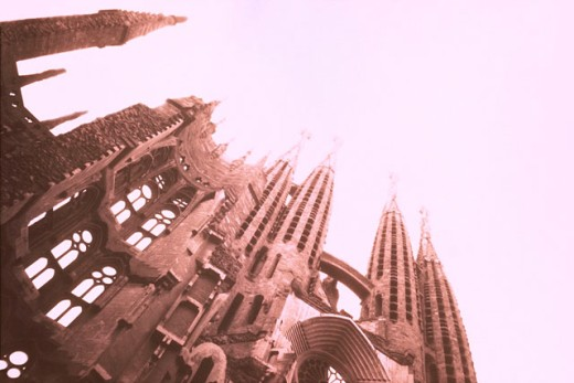 Stock Photo: 1566-030349 Sagrada Familia (Church of the Holy Family). Barcelona. Spain