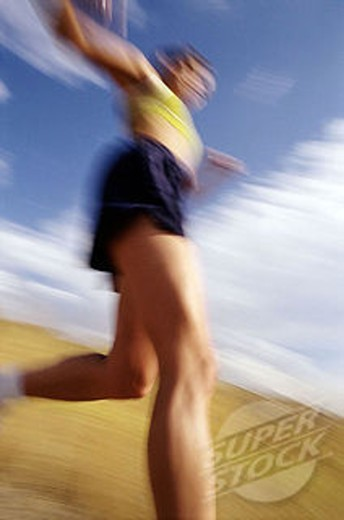 Women running fast : Stock Photo