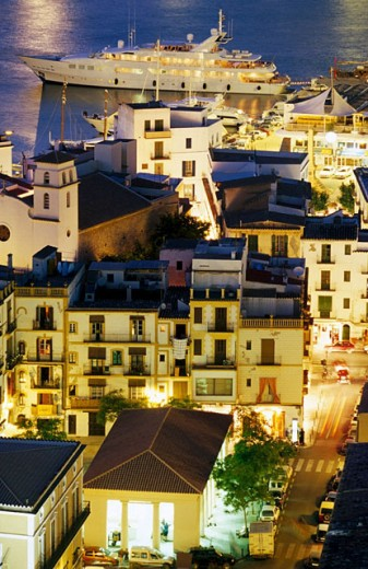 Old City. Ibiza. Balearic Islands. Spain : Stock Photo