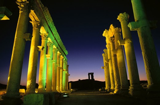 Greco-roman city. Palmira. Syria : Stock Photo