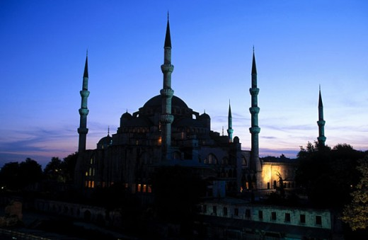 Stock Photo: 1566-037325 Blue Mosque. Istanbul. Turkey