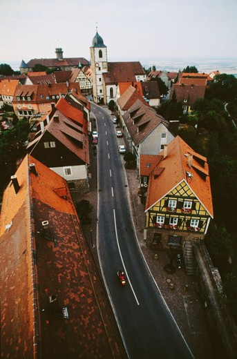 Stock Photo: 1566-040209 Waldenburg. Hohenlohe region. Baden-Württemberg. Germany