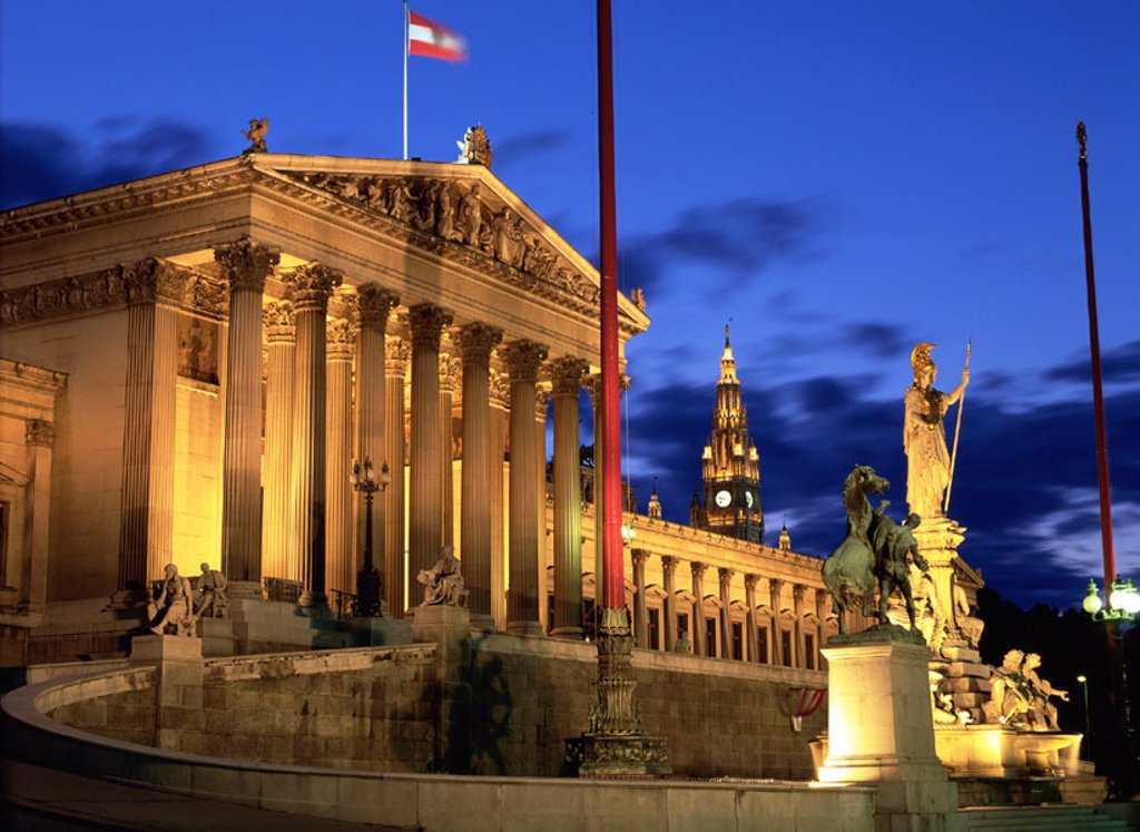Stock Photo: 1566-040242 Parliament. Vienna. Austria
