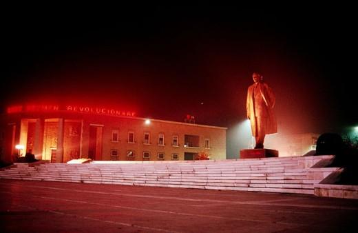 Enver Hoxha monument. Tirana. Albania : Stock Photo