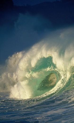 Stock Photo: 1566-040751 Waimea Bay. Oahu. Hawaii. USA