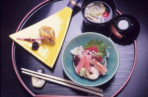 Kaiseki style meal. Japan : Stock Photo