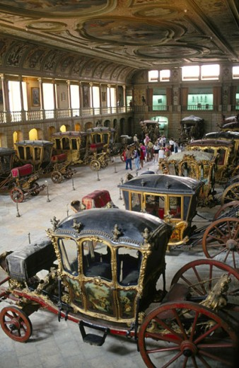 Antique carriages Museum. Lisbon. Portugal : Stock Photo