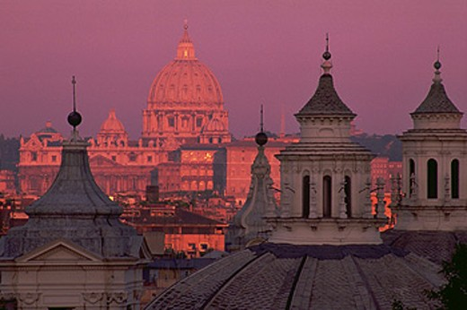 Stock Photo: 1566-042350 St. Peter´s Cathedral. Rome. Italy