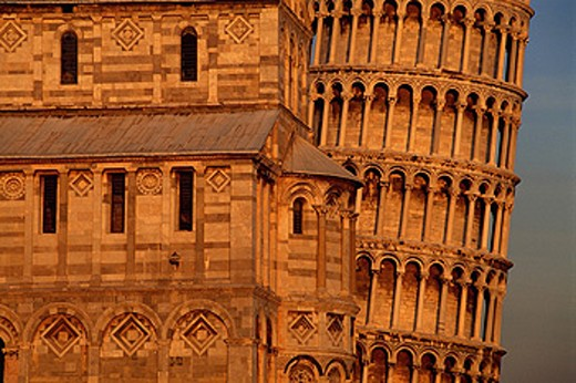 Partial view of Leaning Tower and Duomo. Pisa. Italy : Stock Photo