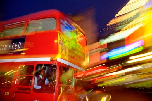 Bus. Piccadilly Circus. London. England : Stock Photo