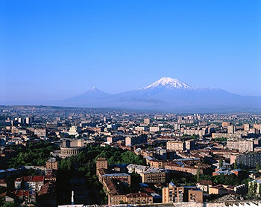 Yerevan and Mt. Ararat, Armenia : Stock Photo