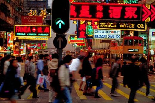 Nathan Road. Kowloon. Hong Kong : Stock Photo