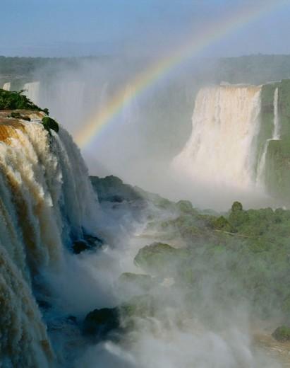 Stock Photo: 1566-042746 Iguazu Falls. Argentina / Brazil